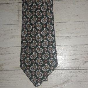BURBERRY 100% Silk Paisleyl Tie NWOT